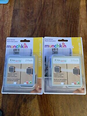 Munchkin Xtraguard Dual Action Multi-Use Safety Latch 2 count Lot of 2