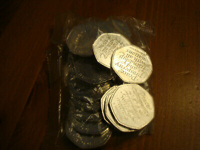 20x50p 2020 BREXIT 50P COINS UNCIRCULATED SEALED FULL BAG