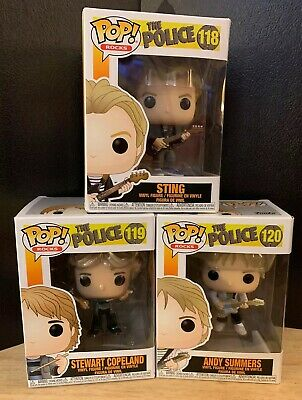 FUNKO POP! ROCKS: The Police - Sting-Andy Summers-Stewart Copeland Vinyl Figures