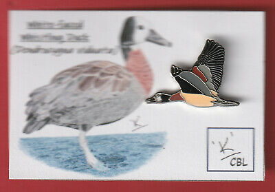 Limited edition White-faced Whistling Duck with card - like RSPB bird pin badges