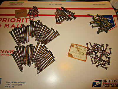 Silicon Bronze Slotted Flat Head Wood Screw Assortment Slot Wooden Boat Screws