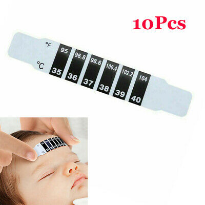 10Pcs Forehead Thermometer Fever Scan Strip Baby Child Adult Check Temperature