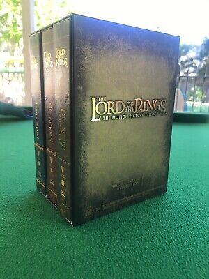 The Lord Of The Rings - Extended Trilogy Pack (DVD, 2004, 12-Disc Set)