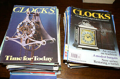 80 Issues Of 'Clocks' Circa 1980'S, 1990'S Fair To Good Condition