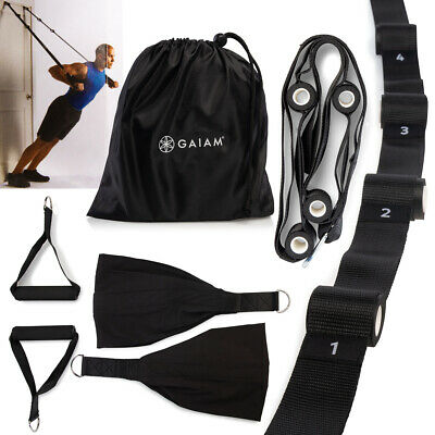 Gaiam Workout Exercise Bands Fitness Total Motion Suspension Trainer Home Gym