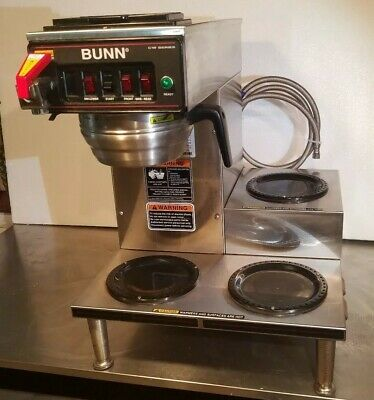20835-00 Stainless Steel Bunn Commercial Coffee Maker 12 Cup Rt W// 5 Warmers