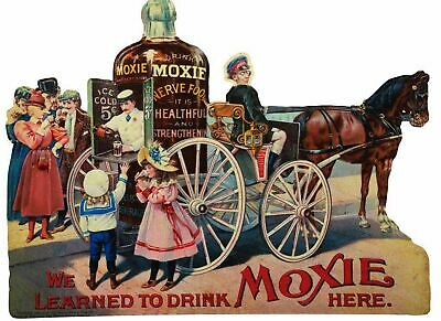 We Learned To Drink Moxie Here Heavy Duty Usa Made Metal Soda Advertising Sign