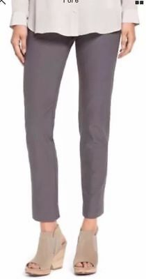 NWT EILEEN FISHER Ash Gray Washable Stretch Crepe Slim Ankle Pants $168 XL
