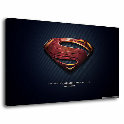 Justice League Movie Poster Superhero Superman Canvas Wall Art Picture Print