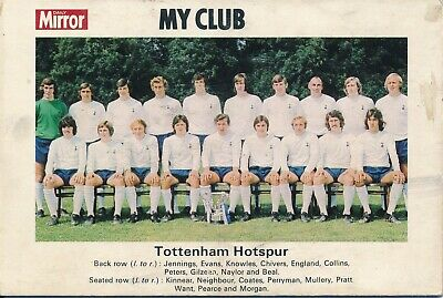 TEAM PHOTOGRAPH: TOTTENHAM HOTSPUR FC 1950s presented by Daily Mirror