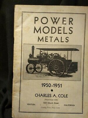 Power Models Metals 1950-1951. COLE, Charles A. Modern Engineering Supplies