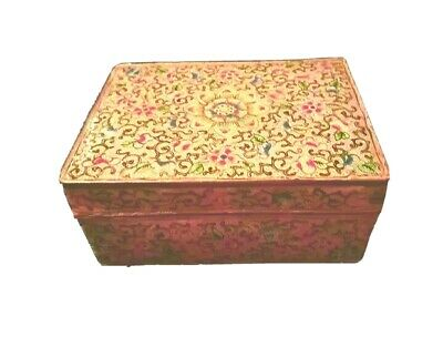 Antique Chinese Cloisonne Box 18th  Century Qing Dynasty Pink Famille Rose
