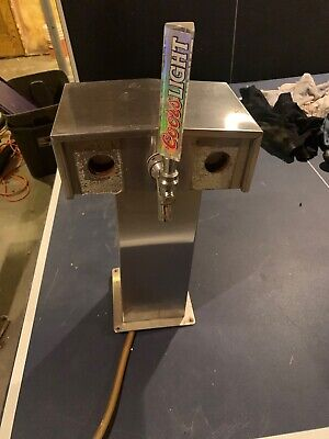 Perlick Century 3 Faucet Tee Tower Stainless Steel Beer System