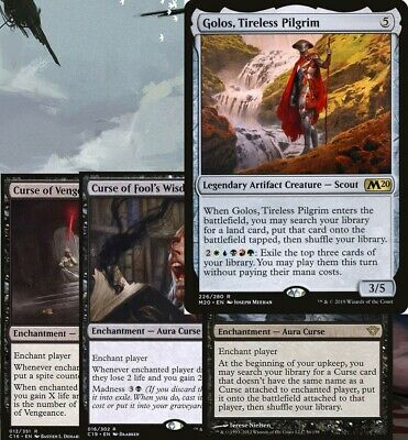 5 Color CURSE and Maze's End Commander Deck EDH Magic MTG Ready-to-Play Golos