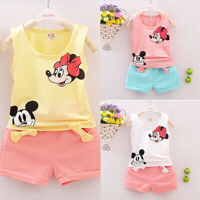 Cute Toddler Kid Baby Girl T-shirt Tops+Pants/Shorts/Dress Outfit Clothes Set