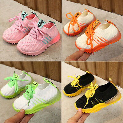 Baby Child Boys Girls Running Shoes Kids Casual Outdoor Sports Breathable Shoes