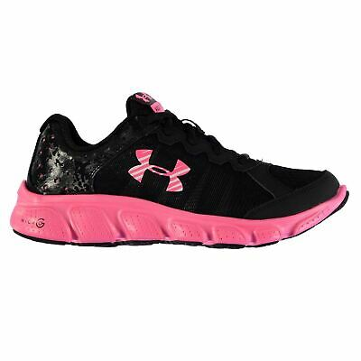 Under Armour Micro Assert 6 Junior Girls Trainers Black/Pink Shoes Footwear