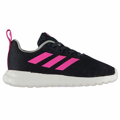 adidas Lite Racer Trainers Infant Girls Navy/Pink/White Shoes Footwear
