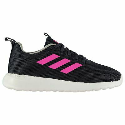 adidas Lite Racer CLN Trainers Child Girls Navy/Pink/White Shoes Footwear