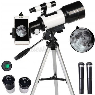 150 x Zoom Terrestrial And Astronomical Telescope Tripod 300mm x 70mm For Kids