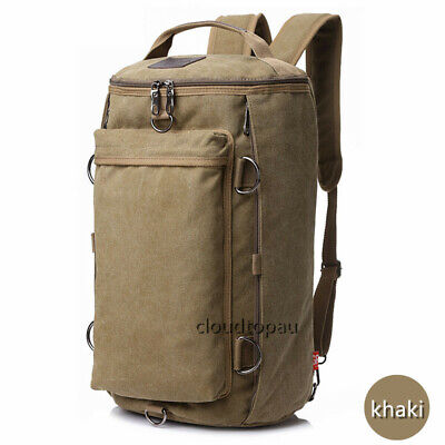 Convertible Canvas Camping/Hiking/Sport/Travel Rucksack Backpack Light Carry Bag
