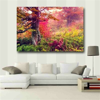 Red landscape Posters and Prints Canvas Painting Wall Art Pictures Home Decor