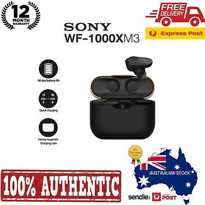 Genuine Sony WF-1000XM3 Truly Wireless Noise Cancelling Headphones  | Black