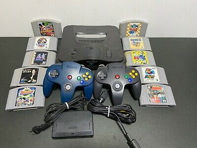 Nintendo 64 Launch Edition Charcoal Grey Console & Games SET - JAPANESE PRODUCT