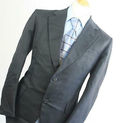 Mens Austin Reed Grey Super 100 Wool Winter Suit Jacket 40 Trousers 34 Leg 31 61 82 Picclick