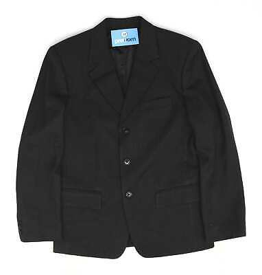 Hugo Boss Mens Black Single Breasted Suit 36/30 (Regular)