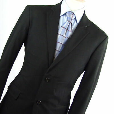 Benetton Mens Black Suit Jacket 40 (Long)