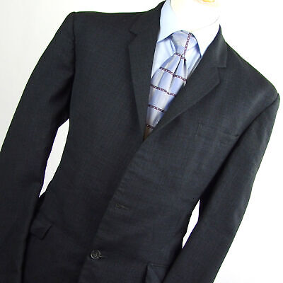Hardy Amies Mens Blue Check Wool Blend Suit Jacket Size 41