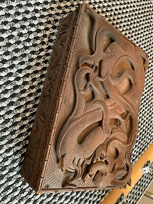 House Clearance Attic Barn Find Rare Antique Chinese Carved Wooden Dragon Box