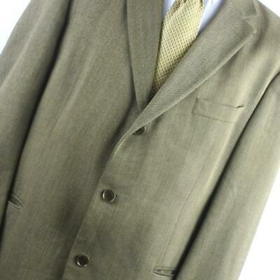 Hugo Boss Mens Brown Suit Jacket 42 Regular Wool Textured