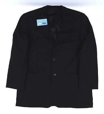 Hugo Boss Mens Wool Black Suit Jacket 40 Chest (Regular)