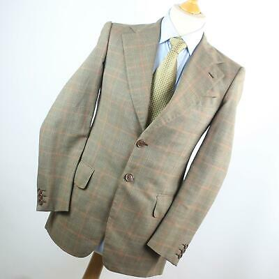 Hardy Amies Mens Grey Check Wool Blend Single Breasted Suit 36/30 (Regular)