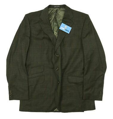 Austin Reed Mens Wool Check Green Suit Jacket 40 Chest (Long)
