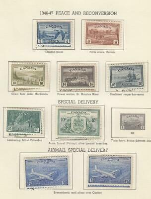 Canada (Mk5541) # 268-272,C9,Ce3&4,Eii  Vf-Mh/Used 1 Each Of Peace Issues Cv $89