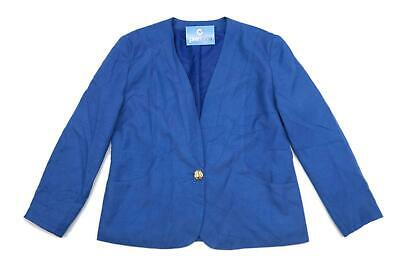 House of Fraser Womens Size 16 Blue Bright Vibrant Occasion Gold Formal Work Off