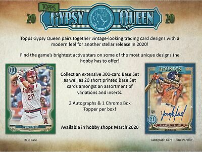 2020 Topps Gypsy Queen Baseball Factory Sealed Hobby Box