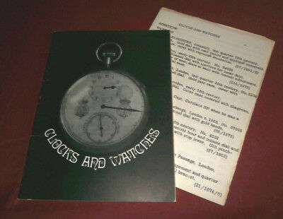 Book: CLOCKS & WATCHES. EXETER MUSEUMS & ART GALLERY. P M Inder. 1972. Illustr.