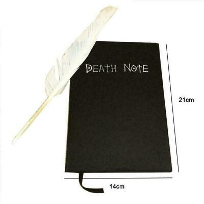 Death Note Book Cosplay Notebook Journal Diary+Feather Theme Anime Notebook O9H5