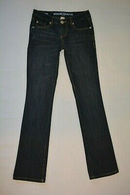 MOSSIMO Supply Co Size 3 R FIT 6 Bootcut Womens Juniors DARK WASH Jeans Stretch