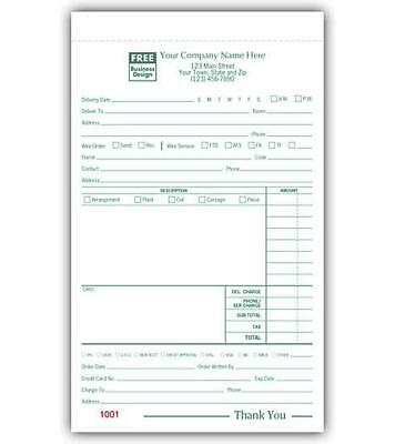 """Floral Order Form / 5.5"""" x 8.5"""" /  NEBS Deluxe 5141"""