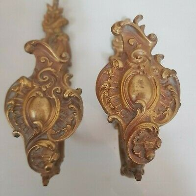 Good Quality Pair Of Large Antique French Gilt Bronze Curtain Tie Backs