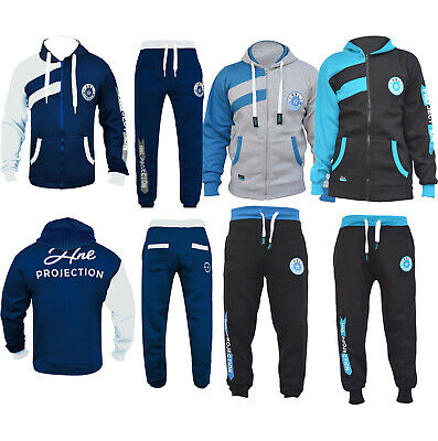 Kids Tracksuit Set Fleece Hoodie Top & Bottoms Joggers Boys Girls Free P&P 7-13