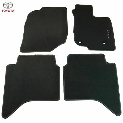 Toyota Hi-Lux Double Cab 2005-2011 Fully Tailored Car Floor Mat Set in Black