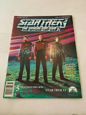 1991 Star Trek Magazine The Official Fan Club October/November