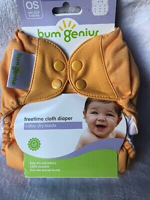 Bumgenius Freetime All in One Cloth Diaper Orange Clementine