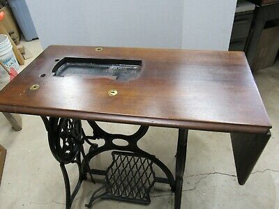 1800's Singer Treadle Fiddle Base Sewing Machine Cabinet Top Restore